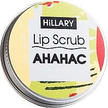 "Духи, Парфюмерия, косметика Сахарный скраб для губ ""Ананас"" - Hillary Lip Scrub"