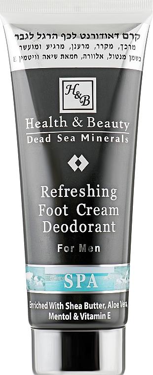 Освежающий крем-дезодорант для ног - Health And Beauty Refreshing Foot Cream Deodorant For Men