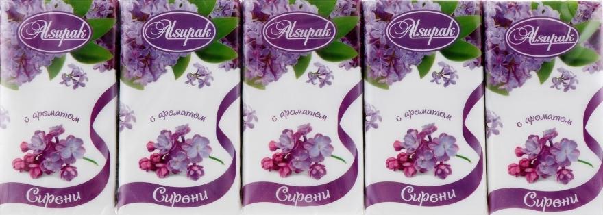 """Бумажные носовые платки, с ароматом """"Сирень"""" - Alsupak"""