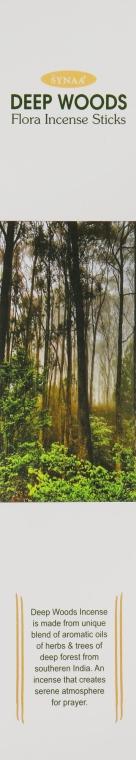 Ароматические палочки Лесная Чаща - Synaa Flora Incense Sticks Deep Wood