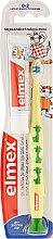 Духи, Парфюмерия, косметика Детская зубная щетка (0-3 лет), желтая с жирафом - Elmex Learn Toothbrush Soft + Toothpaste 12ml