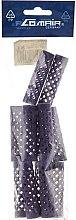 Духи, Парфюмерия, косметика Бигуди металлические, длинные, фиолетовые, 15 мм - Comair