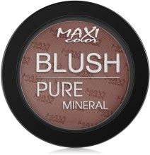Духи, Парфюмерия, косметика Румяна для лица - Maxi Color Mineral Pure