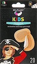 """Духи, Парфюмерия, косметика Окклюзионные пластыри для глаз """"Kids Occlusive"""", 20 шт - Milplast"""