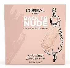 Духи, Парфюмерия, косметика Пудра-хайлайтер для кожи лица - L'Oreal Paris Back to Nude by Katya Silchenko Skin Paradise