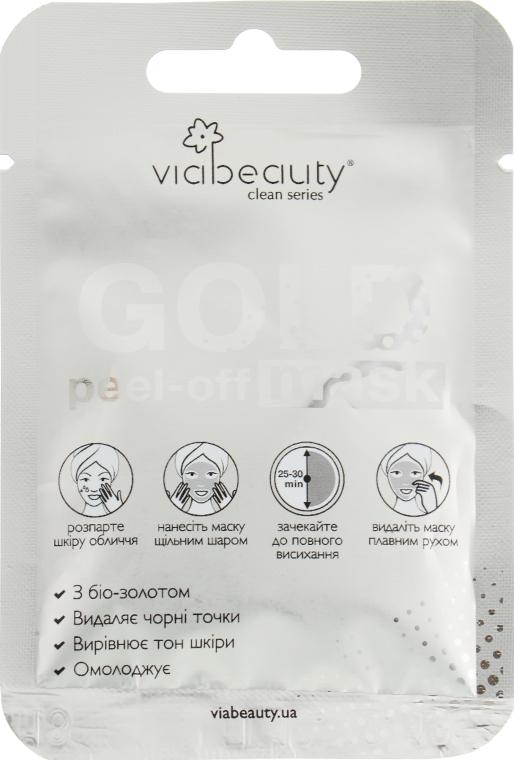 Очищающая маска-пленка с биозолотом - Via Beauty Gold Mask
