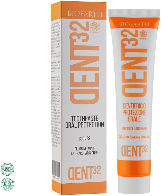 Зубная паста на основе гвоздики - Bioearth Dent32 Protective Toothpaste with Cloves