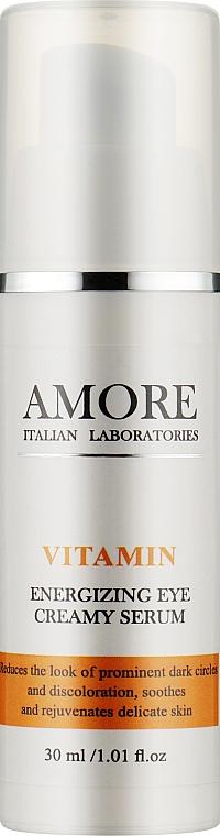 Концентрированная крем-сыворотка для кожи вокруг глаз против отеков и темных кругов - Amore Vitamin Energizing Eye Creamy Serum
