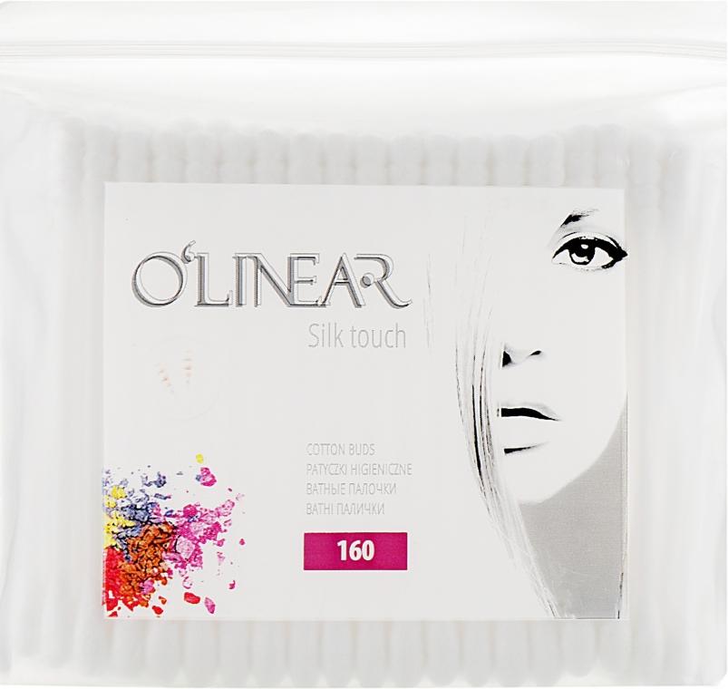 """Ватные палочки """"Silk Touch"""", в полиэтиленовой упаковке, 160шт - O`linear"""