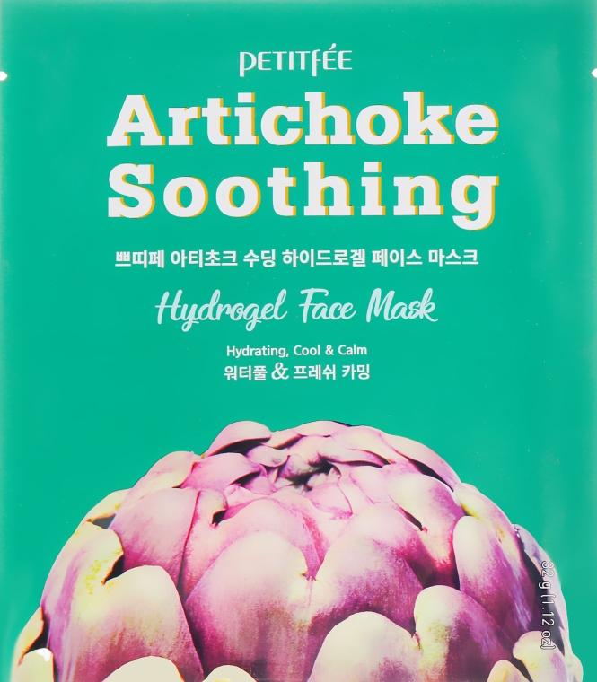 Гидрогелевая успокаивающая маска для лица с экстрактом артишока - Petitfee&Koelf Artichoke Soothing Face Mask