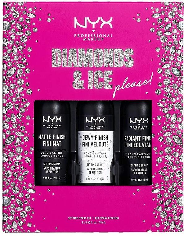 Набор - NYX Professional Makeup Diamonds & Ice Please Setting (face/spray/3x18ml)