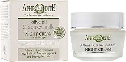 Духи, Парфюмерия, косметика Антивозрастной защитный ночной крем - Aphrodite Night Cream Anti-Wrinkle & Anti-Pollution