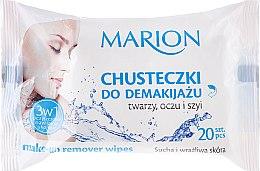 Духи, Парфюмерия, косметика Салфетки для снятия макияжа с лица, глаз и шеи, сухая и чувствительная кожа, 20 шт. - Marion