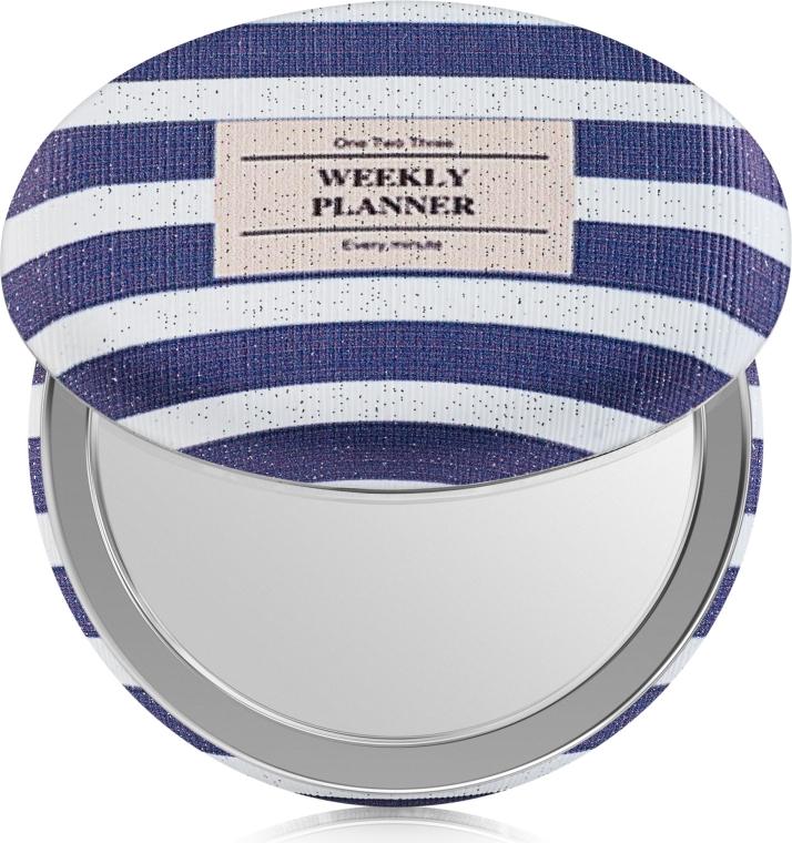 """Зеркало косметическое, """"Weekly Planner"""", фиолетово-белое - SPL"""