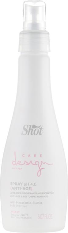 Сыворотка-спрей восстанавливающая - Shot Care Design Spray Anti-Age & Restoring No Rinse