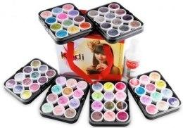 Парфумерія, косметика Набір кольорових акрилів у валізі - Kodi Professional Colored Acrylics Kit