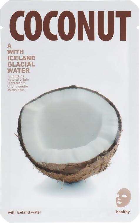 """Тканевая маска для сияния кожи лица """"Кокос"""" - The Iceland Coconut Mask"""