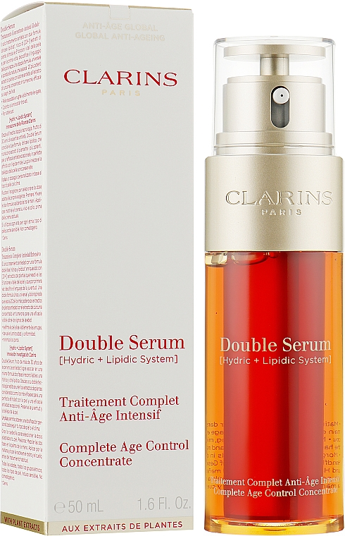 Двойная сыворотка - Clarins Double Serum Complete Age Control Concentrate — фото N3