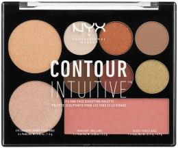 Духи, Парфюмерия, косметика Палетка для контурирования - NYX Professional Makeup Contour Intuitive Palette