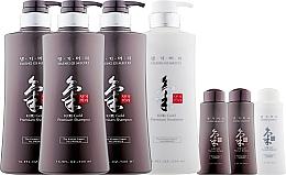 Духи, Парфюмерия, косметика Набор - Daeng Gi Meo Ri Ki Gold Hair Care Set (shm/500ml + shm/500ml + shm/500ml + cond/500ml + shm/70ml + shm/70ml + cond/70ml)