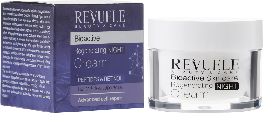 Ночной крем для лица - Revuele Bioactive Skincare Regenerating Night Cream