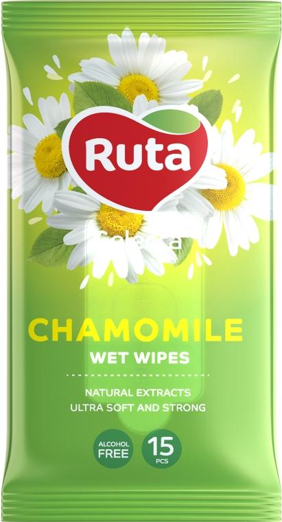 Влажные салфетки с экстрактом ромашки - Ruta Selecta Camomile