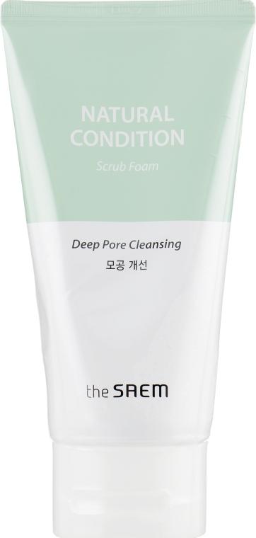 Пенка-скраб для умывания очищающая - The Saem Natural Condition Cleansing Scrub Deep Pore Cleansing