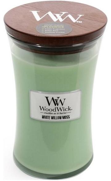 Ароматическая свеча в стакане - WoodWick Hourglass Candle White Willow Moss — фото N1