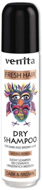 Сухой шампунь для волос - Venita Salon Professional Dark & Brown Dry Shampoo