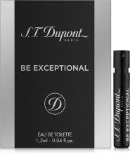 Духи, Парфюмерия, косметика S.T. Dupont Be Exceptional - Туалетная вода (пробник)