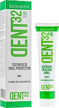 Духи, Парфюмерия, косметика Зубная паста с ментолом - Bioearth Dent32 Toothpaste with Mint