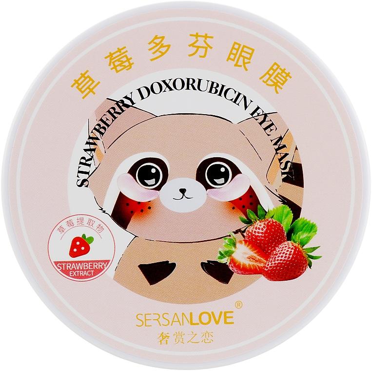 Патчи для глаз с экстрактом клубники - Sersanlove Strawberry Doxorubicin Eye Mask