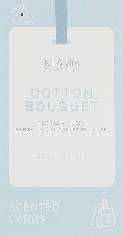 Набор - Mr&Mrs Fragrance Tags Mr. Drawers Set № 81 Cotton Bouquet (3 x tags)