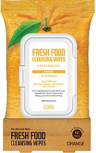 "Духи, Парфюмерия, косметика Очищающие салфетки для лица ""Апельсин"" - Superfood For Skin Fresh Food Facial Cleansing Wipes"