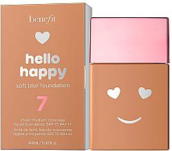 Духи, Парфюмерия, косметика Тональная основа с эффектом мягкого свечения - Benefit Hello Happy Soft Blur Foundation