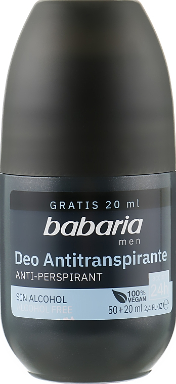 Роликовый дезодорант-антиперспирант - Babaria Men Roll-On Anti-Perspirant