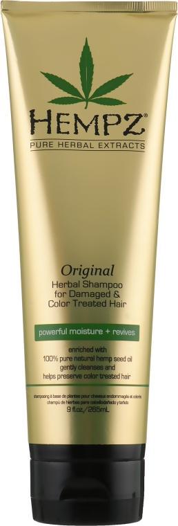 """Шампунь растительный """"Оригинальный"""" для поврежденных и окрашенных волос - Hempz Original Herbal Shampoo For Damaged & Color Treated Hair"""