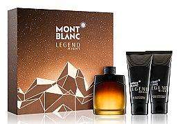 Духи, Парфюмерия, косметика Montblanc Legend Night - Набор (edp/100ml + ash/balm/100ml + sh/gel/100ml)