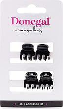 Парфумерія, косметика Затискач-краб для волосся FA-9930, міні, чорний, 4 шт. - Donegal Hair Clip