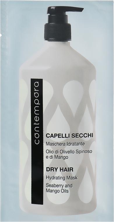 Маска увлажняющая для сухих волос с маслом облепихи и маслом манго - Barex Italiana Contempora Dry Hair Hydrating Mask (пробник)