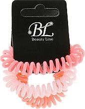 Духи, Парфюмерия, косметика Набор резинок для волос, 405004, коралловая+бледно-розовая+персиковая - Beauty Line