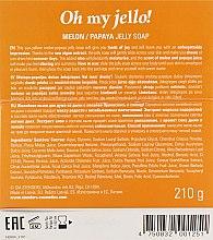 "Желейное мыло для душа из дыни с папайей ""Прикоснись к солнцу"" - Stenders Melon/Papaya Jelly Soap Oh my Jello — фото N3"