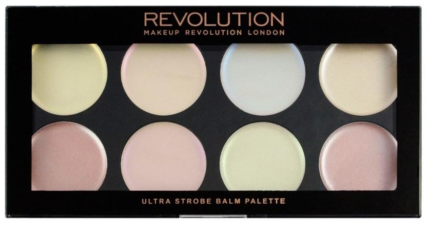 Палетка кремовых хайлайтеров для стробинга - Makeup Revolution Ultra Strobe Balm Palette