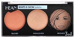 Парфумерія, косметика Моделювальна палетка для макіяжу - Hean Shape & Glow Palette