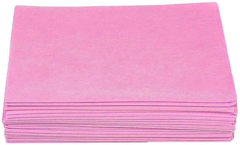 Простыни из спанбонда, в пачках, 0.8х2м, 50 шт., розовые - Doily