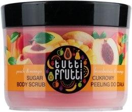 "Духи, Парфюмерия, косметика Пилинг сахарный для тела ""Персик и манго"" - Farmona Tutti Frutti Sugar Scrub"