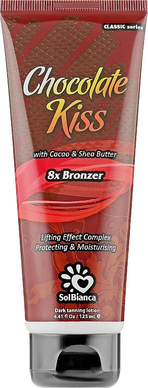 Крем для загара в солярии с маслом какао, маслом ши и бронзаторами - SolBianca Chocolate Kiss