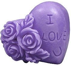 """Духи, Парфюмерия, косметика Натуральное мыло ручной работы """"Я люблю тебя"""", фиолетовое - LaQ Happy Soaps"""