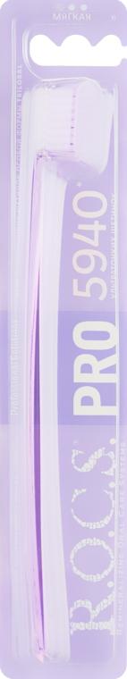 "Зубная щетка ""PRO"" мягкая , перламутрово-фиолетовая - R.O.C.S."