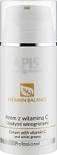 Парфумерія, косметика Крем для обличчя з вітаміном С і білим виноградом - APIS Professional Vitamin Balance Cream With Vitamin C and White Grapes